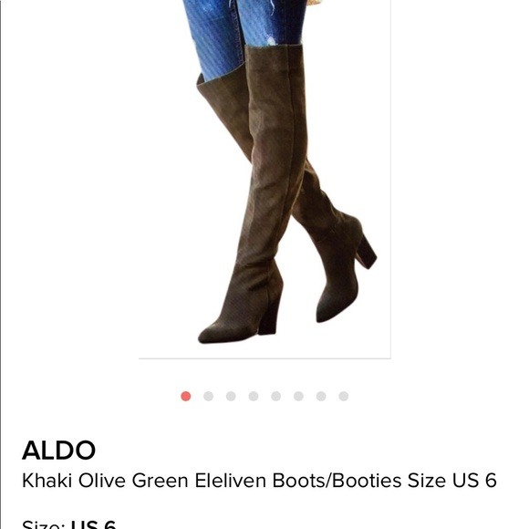 3a461248495 Also olive green over the knee boots. NWT. Aldo